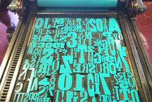 letterpress love / Our love of letterpress. Both printed by us and print that inspires us