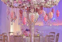 Luxury wedding flower centrepieces