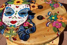 mesa con carretel