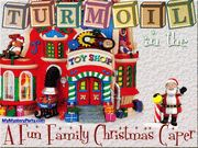 Turmoil in the Toyshop Christmas Non-Murder Mystery Party / A fun family Christmas non-murder mystery party for all ages (however- under 12 years of age will require some help sleuthing)set in the North Pole! There are 7 required characters and 20 unique players altogether! Five characters can be expanded and played as teams during the mystery party. Invite up to 75+ guests for your Christmas bash this year.
