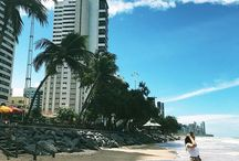 Travel Bilder/ Reisefotos - Reiseblog Deutschland Shark Alert in Fortaleza... so we just walk the beach up & down and enjoy this view