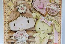 Patchwork Pals Collection / Inspiration using Kanban Crafts Patchwork Pals Papercraft Collection