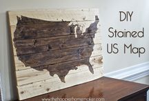 DIY Wood Stain Projects & Crafts / Discover do-it-yourself decorating ideas and crafty projects using wood stain! Make use of your recycled wood from wood scrap piles, leftover lumber, old crates and crate packaging and other reclaimed wood sources. Find Stains for your wood projects at: http://menards.pittsburghpaints.com/stains/stain-default.aspx