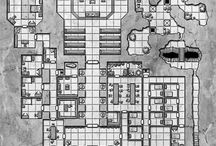 Dungeons / Mostly constructed underground areas for adventures