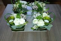 Bloemen en decoraties