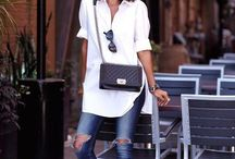 Casual / Crisp white shirt with #denim skinnies