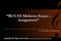 BUS 515 Midterm Exam Assignments