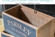 DIY and crafts herb boxes