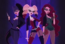 Sirens / Everything of the beautiful and brilliant Gotham villians trio Poison Ivy, Catwoman and Harley Quinn