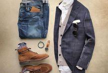 Eriks kläder och moodboard