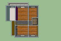 Projecto 3D de habitação / Criação de projeto 3D em SketchUp