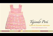 vestido bebé crochet
