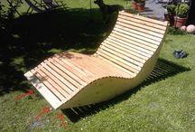 Relaxliege aus Holz