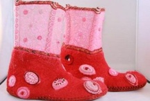 Felted shoes and slippers