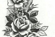 цветы эскизы тату