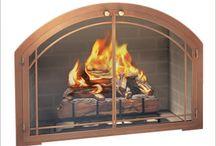 Fireplace Glass Doors / Different glass fireplace doors.