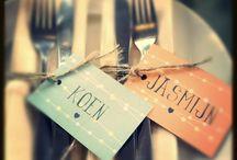 Bruiloft- ideeën diner