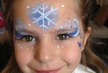 Face painting - frozen /snow