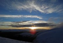 Mountain sunsets and sunrises in Scotland / Mountain sunsets in Scotland