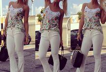 Moda calça branca