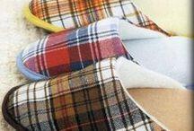 chinelos de tecido