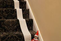 Elf on the Shelf / The Elf on the Shelf is a special scout elf sent from the North Pole to help Santa Claus manage his naughty and nice lists. You adopt a scout elf and give it a name, the scout elf receives its Christmas magic and can fly to the North Pole each night to tell Santa Claus about all of the day's adventures. Each morning, the scout elf returns to its family and perches in a different place to watch the fun.