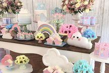 Mesa de dulces Arcoiris