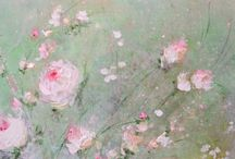 Shabby Floral Paintings