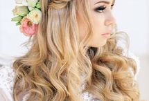 Future wedding plan!! / A braid pinned up across top of head like a head band!!