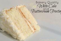 White almond flavour cake