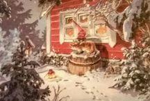 christmascards, joulukortit, postcards / Kuvataiteilija Raimo Partasen korteista kuvia. Postcards, christmascards
