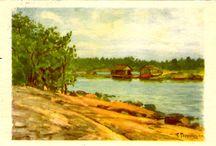 WOLDEMAR TOPPELIUS / Syntynyt 1858 Kostromassa Venäjällä ja kuollut 1933 Helsingissä.  Toimi taiteilijauran ohella Suomen puolustusvoimissa ja hänellä oli majurin arvo.  Pariisin maailmannäyttelysssä hänen meriaiheiset työnsä saivat kunniamaininnan.