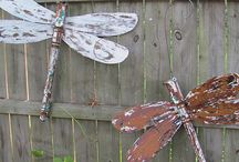 dragonflies made from ceiling fans
