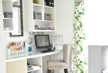 Office/Craft Room Ideas / Home decor & organization ideas for office and craft rooms.