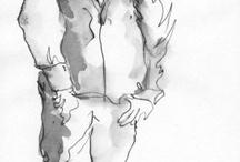 Szkicowniki / Moje szkicowniki, w których notuję na gorąco to co mnie otacza
