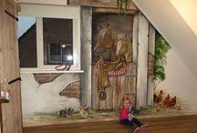 Kinderkamer muurschildering / Muurschilderingen voor de kinderkamer