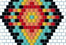 brick stitch tuto