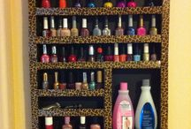 estantes porta maquillaje/esmaltes