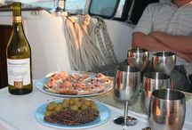 Cooking on a boat
