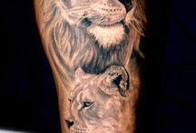 Tatouage lion