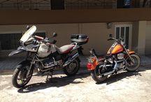 my bikes / Harley-Davidson sprortster 883cc BMW GS1150R adventure