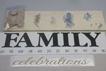 Family Birthday Board / $35.00 + Shipping.  Beautifully affordable family birthday boards as a gift or home decor for your home!  Fast Priority Mail shipping!     We are currently offering a 15% discount on this board to anyone who signs up for EverMinder at everminder.com! (*once you sign up you'll get the promo code by email*)   / by SignChik- Family Birthday Boards & Yard Signs