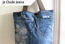 Tassen van oude jeans / Upcycle je oude jeans