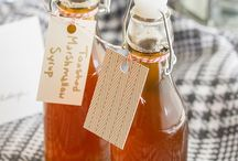 Homemade syrup and juice