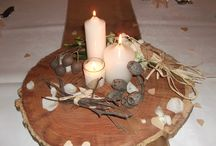 Natural theme / We've had lots of natural themed weddings at Chateau Wyuna of late - here's a couple of them