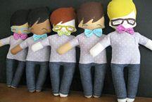 Bonecos de Pano / Modelos e moldes de bonecos de pano, roupinhas, acessórios, dicas de pintura e bordado de olhos, boca, confecção de cabelos, etc.