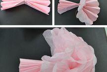 Kağıt çiçekler