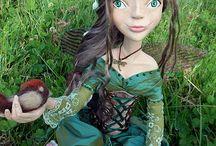Fairies of elements.Handmade art dolls.ooak.