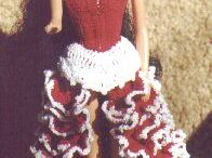 Barbie crochet dresses