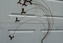 Bird steel sculpture